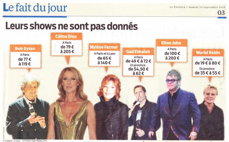 """« Boycottons les concerts trop chers » (""""Le Parisien"""", 14 septembre 2013) 13091404430516724011550565"""