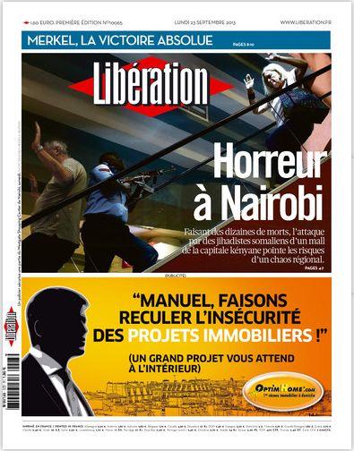 Libération Lundi 23 Septembre 2013