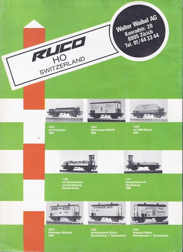 Catalogue et tarifs Ruco 1981 (sans doute le dernier) 1309250429028789711582761