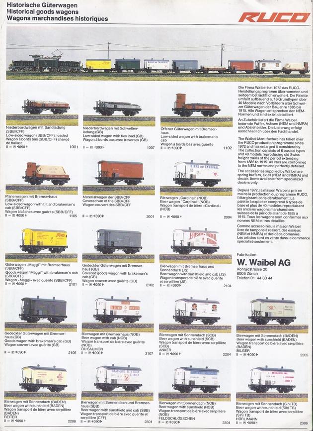 Catalogue et tarifs Ruco 1981 (sans doute le dernier) 1309250429118789711582764