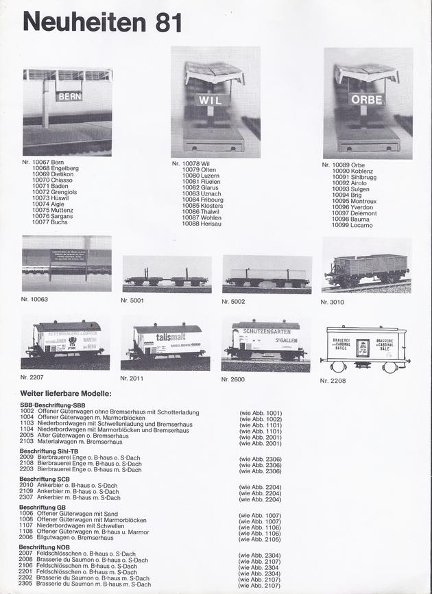 Catalogue et tarifs Ruco 1981 (sans doute le dernier) 1309250553228789711583057