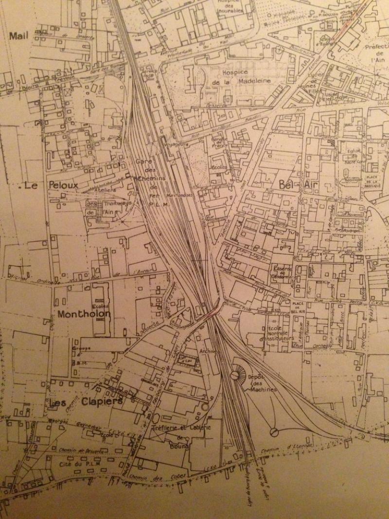 carte plan de bourg en bresse en 1931. Black Bedroom Furniture Sets. Home Design Ideas