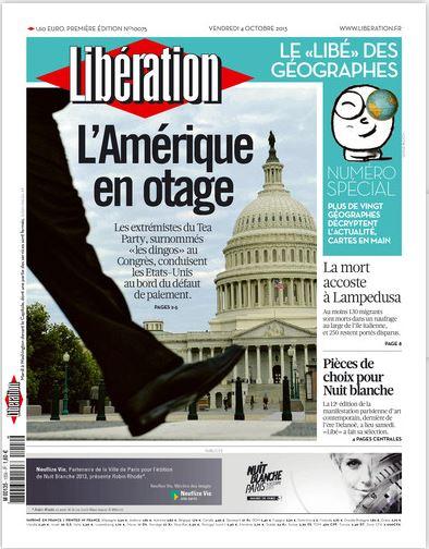 Libération Vendredi 4 Octobre 2013
