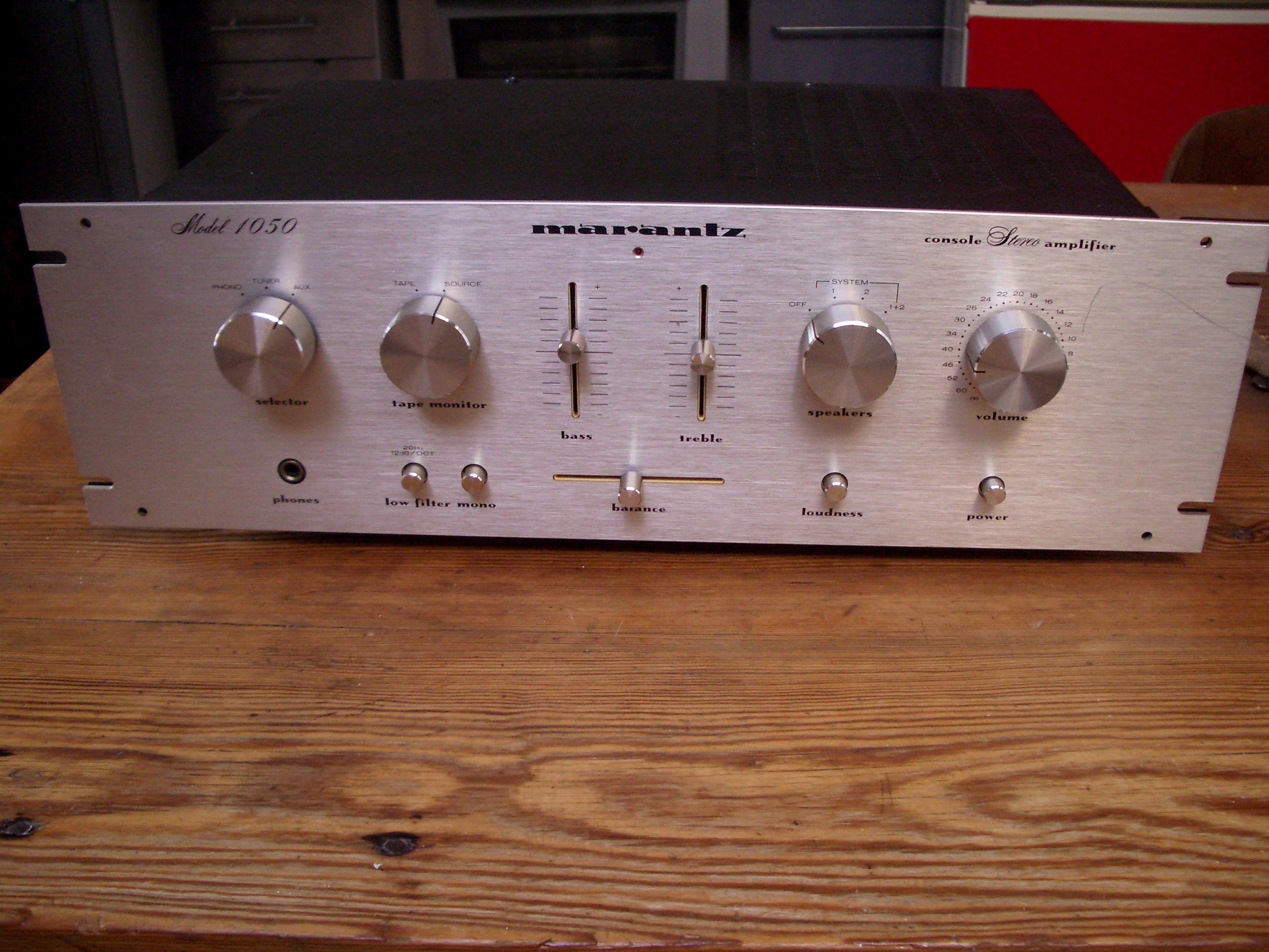 ampli marantz 1050 usa model rack rare amplifier design hifi vintage ebay. Black Bedroom Furniture Sets. Home Design Ideas