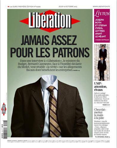 Liberation du Jeudi 10 Octobre 2013