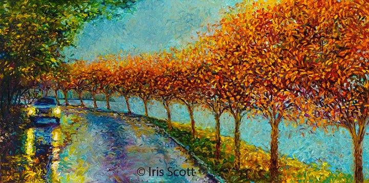 IRIS SCOTT FINGERPAINTER (Elle peint qu'avec ses doigts)
