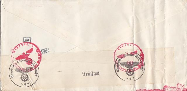 """Les marques des censeurs """"lecteurs"""" des centres de contrôle allemands : e Francfort/Main, additif.(2) 1310230539349212011665861"""