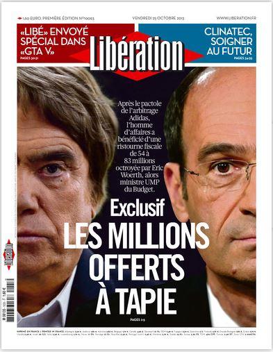 Libération Jeudi 25 Octobre 2013