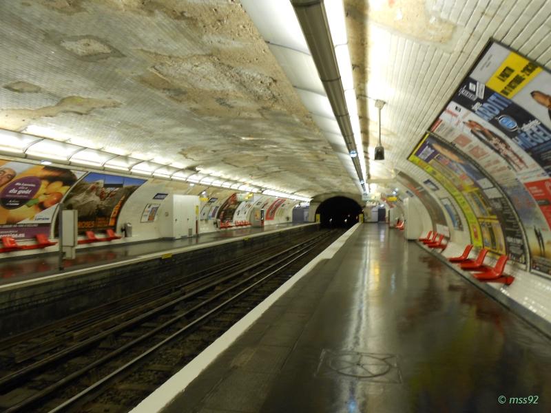 Station Jaurès ligne 7bis