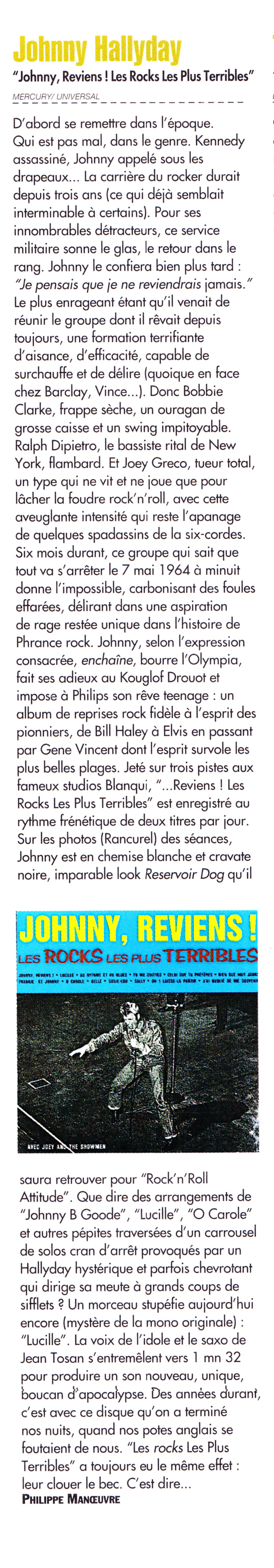 "JOEY & THE SHOWMEN, le groupe des ""ROCKS LES PLUS TERRIBLES"" (1964) de JOHNNY HALLYDAY 13110811243016724011714923"