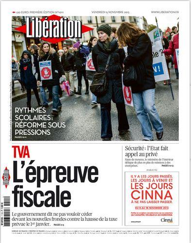 Libération Vendredi 15 Novembre 2013