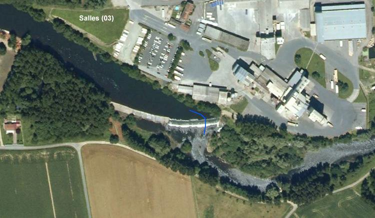 Salles(03) barrage la Minoterie