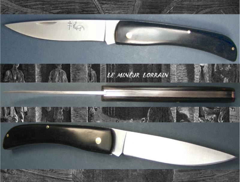 couteau de poche le mineur lorrain b ne croix de lorraine. Black Bedroom Furniture Sets. Home Design Ideas