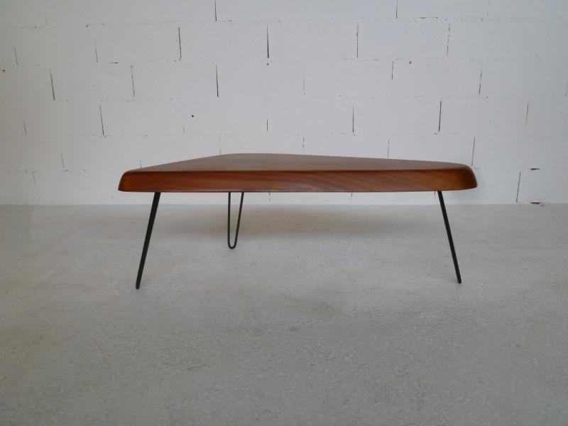 table basse acajou forme libre ann es 50 39 ebay. Black Bedroom Furniture Sets. Home Design Ideas