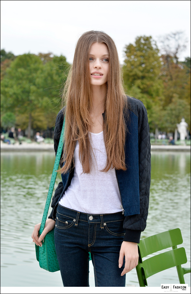 Long Hair Model PFW Easy Fashion