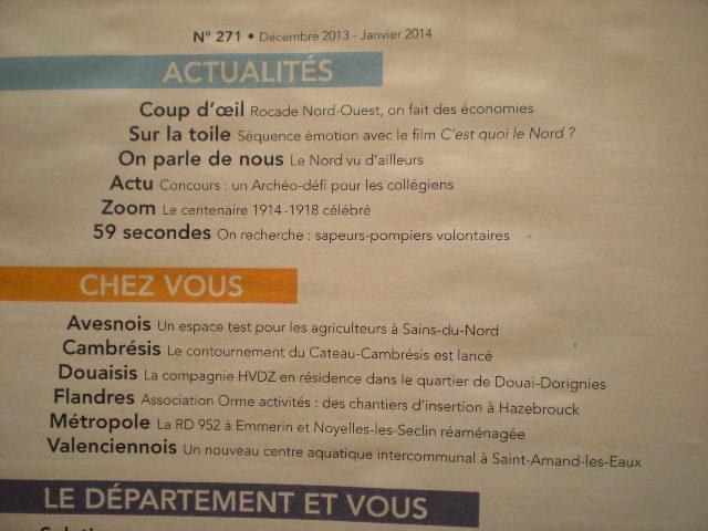 Het tijdschrift van het Département du Nord 13121209030014196111812799