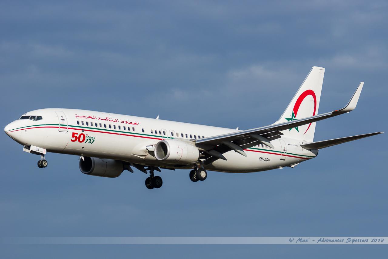 [ 18/05/2013 ] B737-8B6 Royal Air Maroc (CN-RGN) 50 th boeing 737 13121401160616756011816380