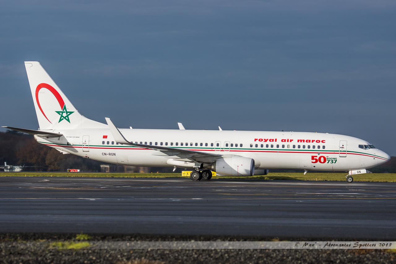 [ 18/05/2013 ] B737-8B6 Royal Air Maroc (CN-RGN) 50 th boeing 737 13121401160616756011816381