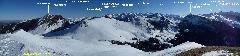 5652 Du sommet du Turon de<br /> Lahouita, Pics de Gerbe,<br /> Montaigu, Midi de Bigorre,<br /> Gabizos, Ger, Balaïtous, Ossau<br /> et Sesques (3) pano annoté.jpg