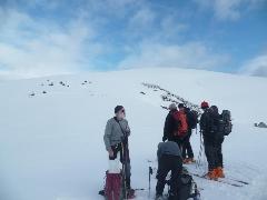Sommet d'Antenac - 4018 Pause au col situé entre les Caps de la Pique de Plas et de Laragouère (1690 m)