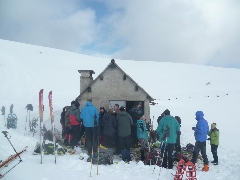 Sommet d'Antenac - 4073 Pause restauration à la cabane de Courrau Nord (1690 m)