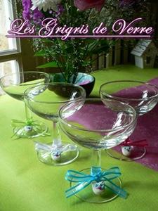 décoration verre table baptême mariage
