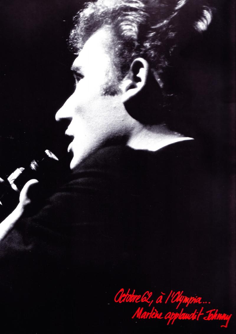 Octobre 1962 à l'Olympia : Marlene Dietrich applaudit Johnny Hallyday 14010505394816724011872841