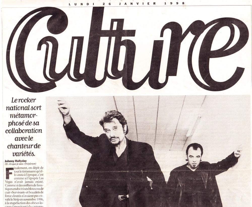 """""""L'Obispo-thérapie de Johnny"""" par Serge Loupien (""""Libération"""", 26 janvier 1998) 14011508212716724011902377"""