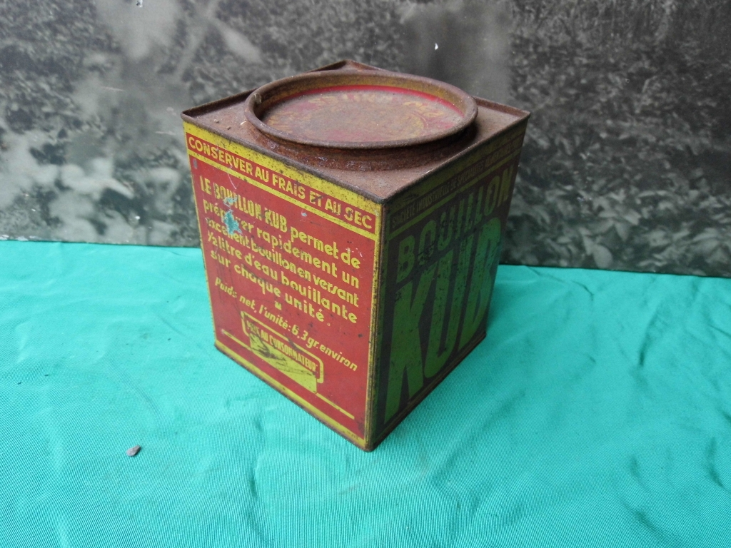 Ancienne boite metal kub ebay - Boite metal ancienne ...