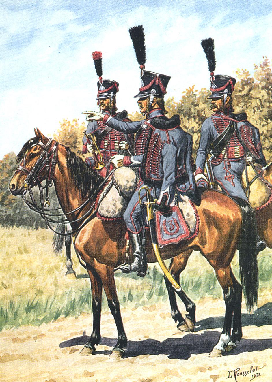 Trompette de Hussards du 3ème Régiment vers 1808 1402120822013593411978311