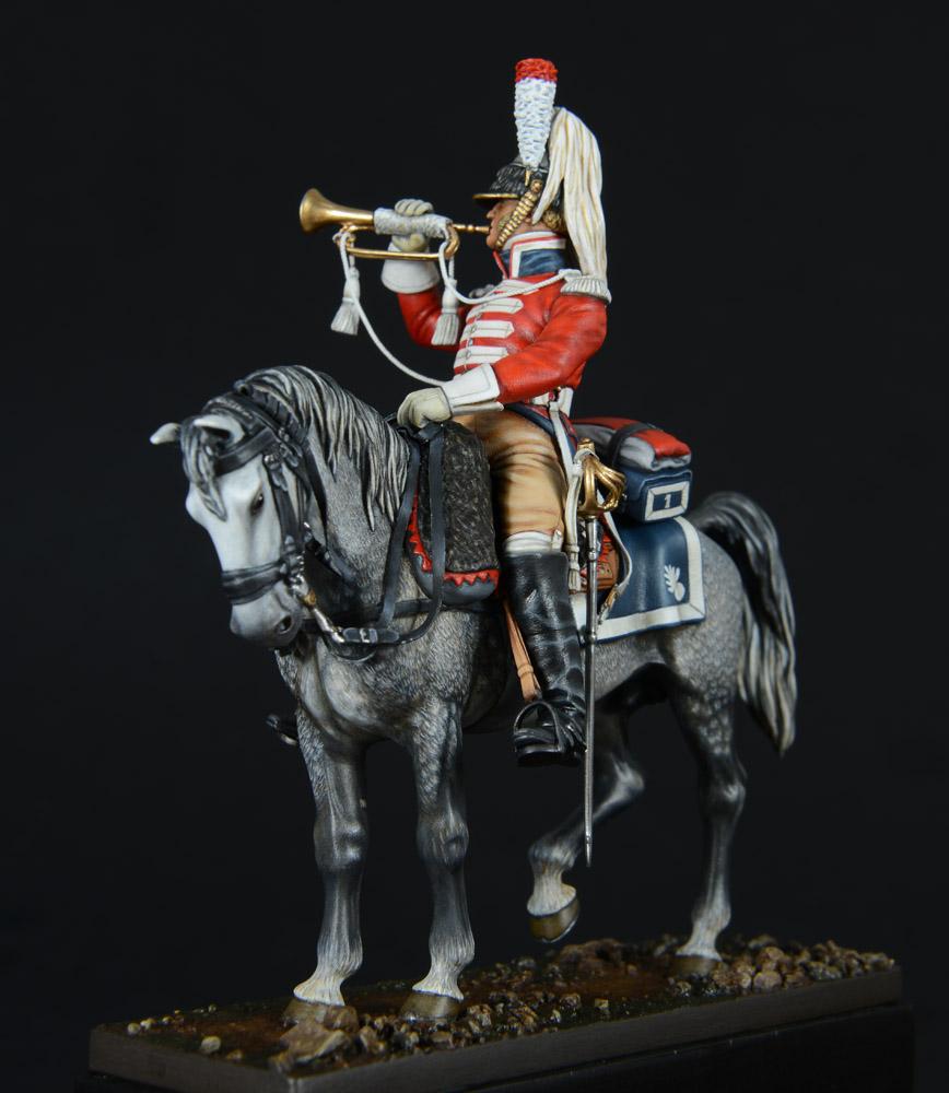 Vitrine de Bernard.S (Métal Modèles, bien entendu...) Trompette des 9ème et 7ème Hussards - Page 2 1403050236143593412037170