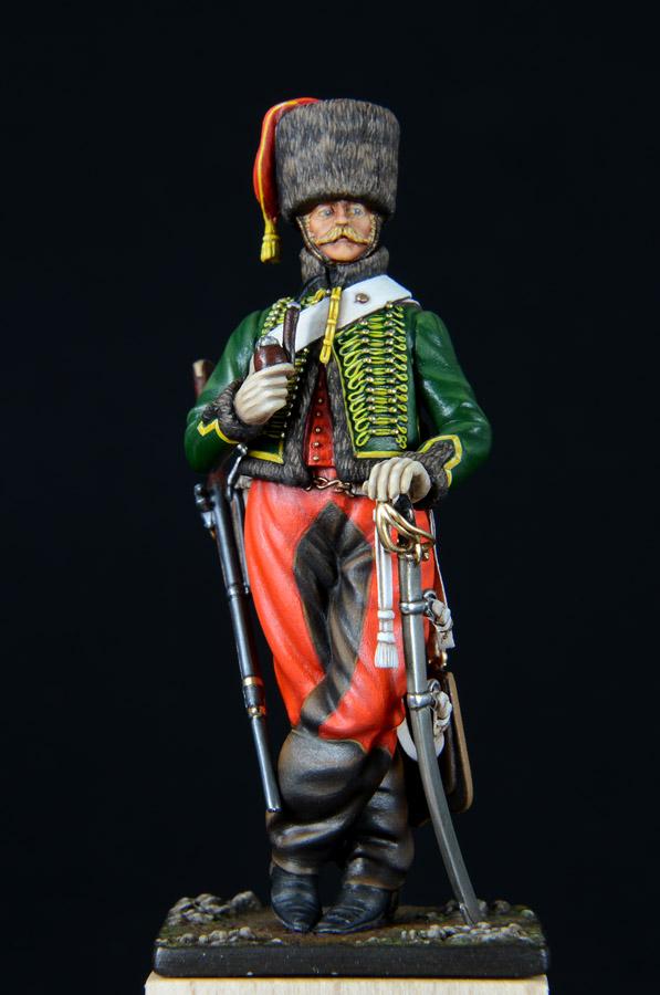 Trompette de Hussards du 7ème Régiment à Waterloo. 1403050241433593412037183