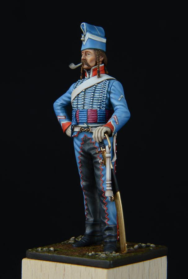 Vitrine de Bernard.S (Métal Modèles, bien entendu...) Trompette des 9ème et 7ème Hussards - Page 4 1403050244173593412037186