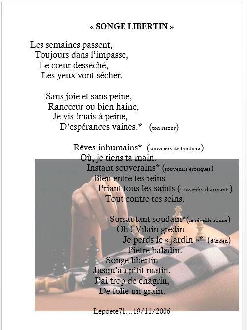 SONGE LIBERTIN Illustré