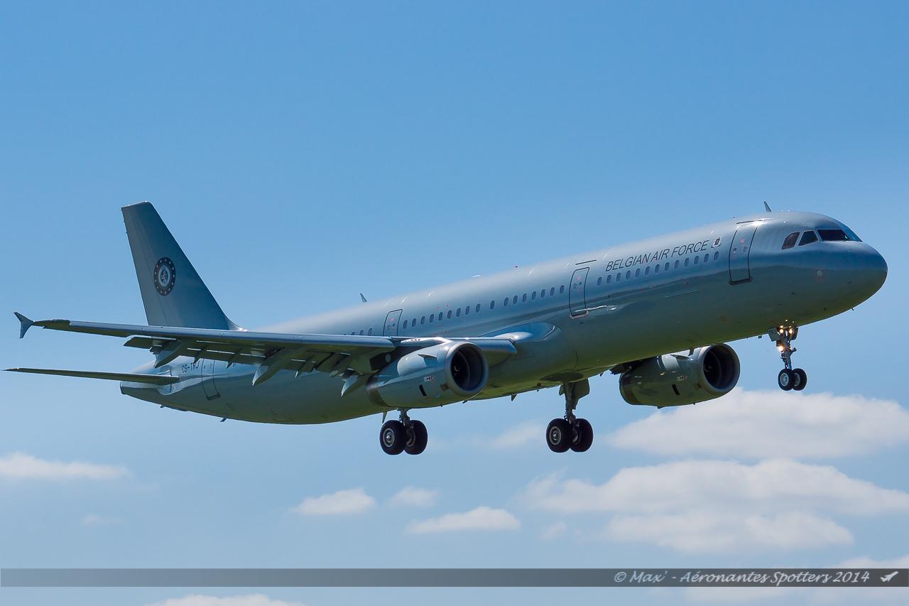 Spotting du 09/04/2014 : A321 Belgium Air Force ! 14040909030217438712136469