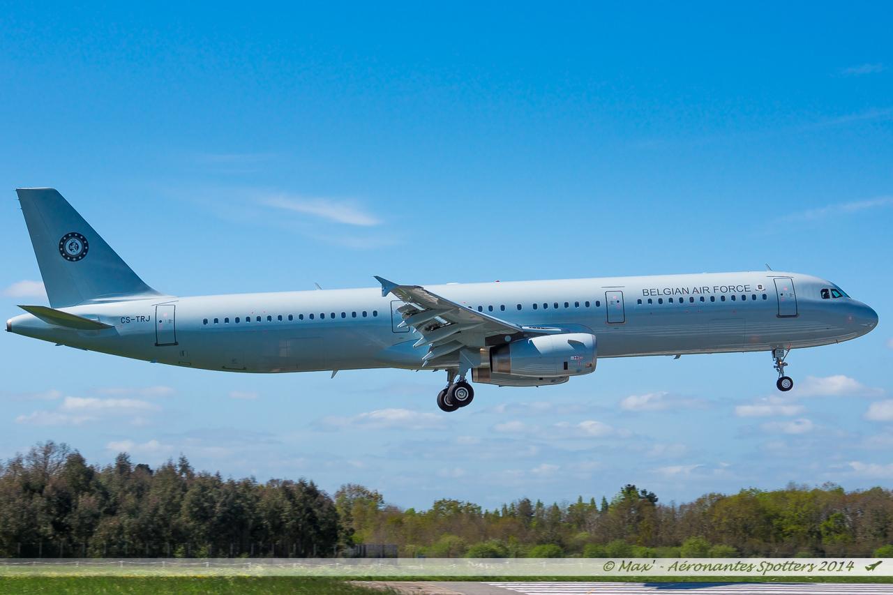 Spotting du 09/04/2014 : A321 Belgium Air Force ! 14040909030917438712136471