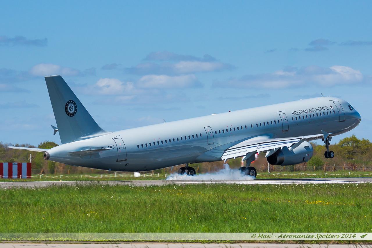 Spotting du 09/04/2014 : A321 Belgium Air Force ! 14040909031417438712136472