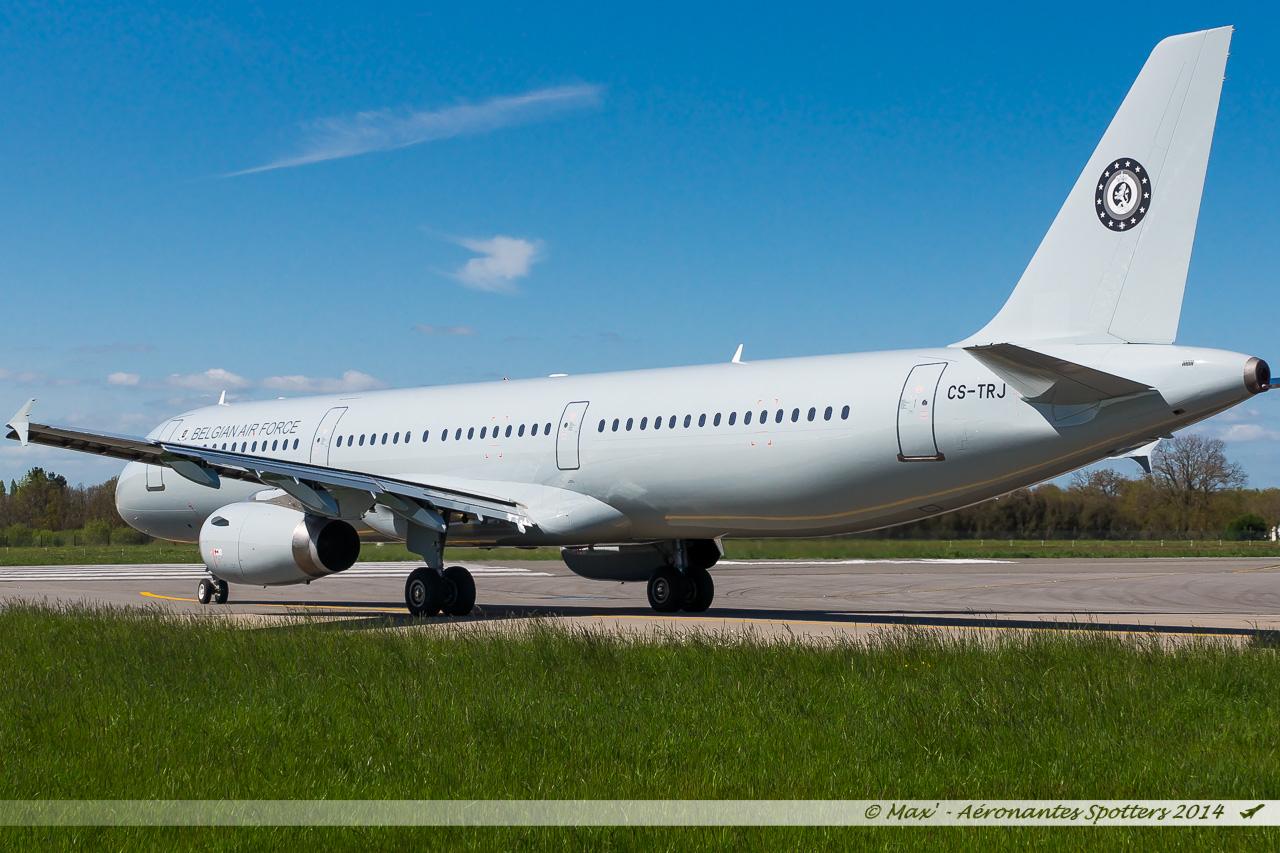 Spotting du 09/04/2014 : A321 Belgium Air Force ! 14040909043317438712136487