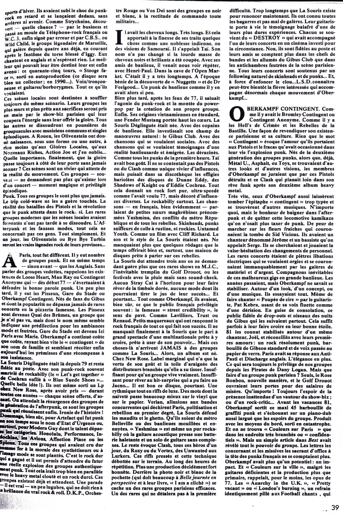 """OBERKAMPF et LA SOURIS DÉGLINGUÉE par PATRICK EUDELINE 1982 (dans """"Best"""") 14041701051216724012156078"""