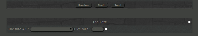Dices rolls & the fate 14051912145412949812248359