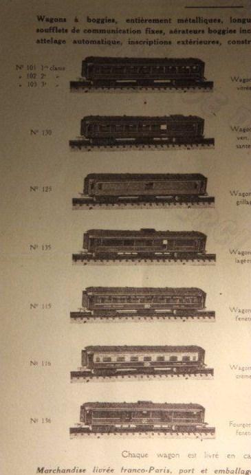 WAGONS  MARTIN Iére série fabriqués vers 1948 14052702572616773112269846