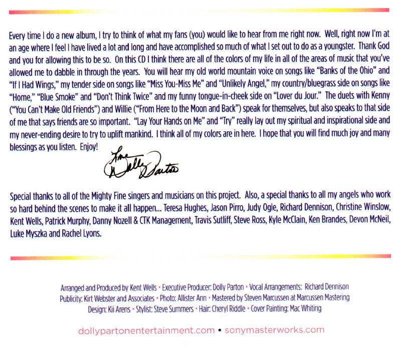 "DOLLY PARTON, album ""Blue Smoke"" (2014) : chronique détaillée 14060912200616724012302248"