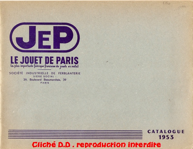 a CATALOGUE    JEP 1953 C1