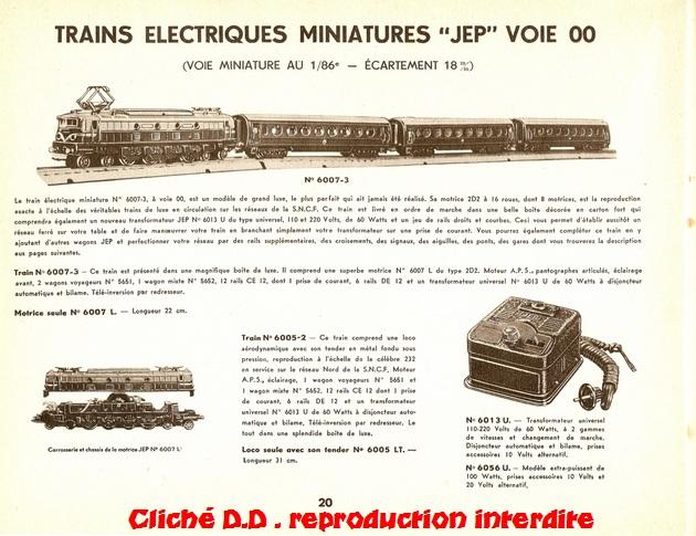 CATALOGUE    JEP 1953  -20