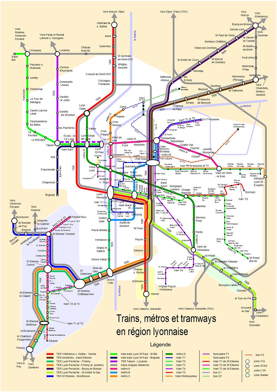 Plan De La Ville D Oullins