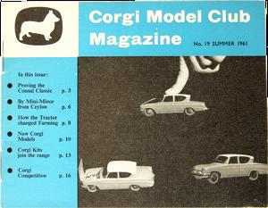 Magazine Club des collectionneurs Corgi-Toys été 1961
