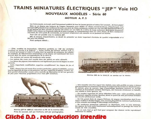 COFFRETS JEP  OO-HO de 1952 à 1959 série 60 14062611510816773112347713