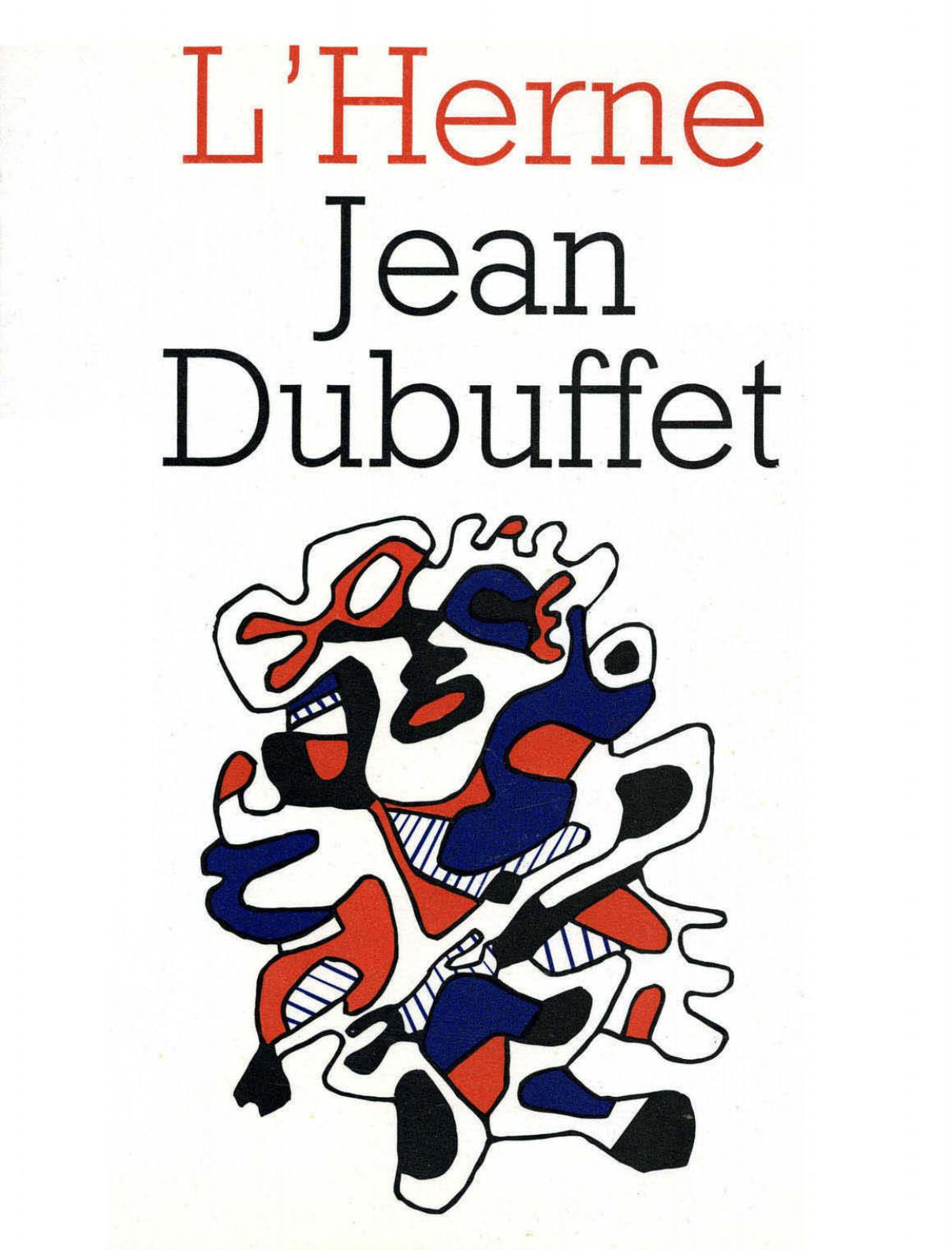 Jean Dubuffet, Cahier de L'Herne