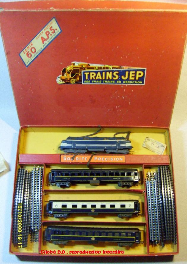 COFFRETS JEP HO de 1959 à 1964   -Avec le nouveau moteur AP5 Type 2-Avec le moteur  AP3 série 61 -Avec moteur mécanique 14062805520416773112351129