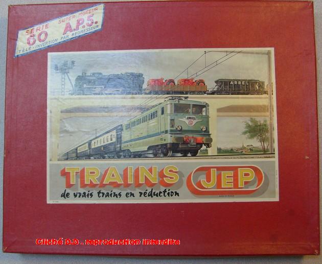 COFFRETS JEP HO de 1959 à 1964   -Avec le nouveau moteur AP5 Type 2-Avec le moteur  AP3 série 61 -Avec moteur mécanique 14062806111016773112351194